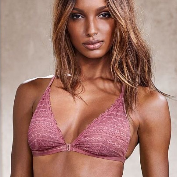727e64d5d1 Victoria s Secret Front Close Bralette Dusty Rose